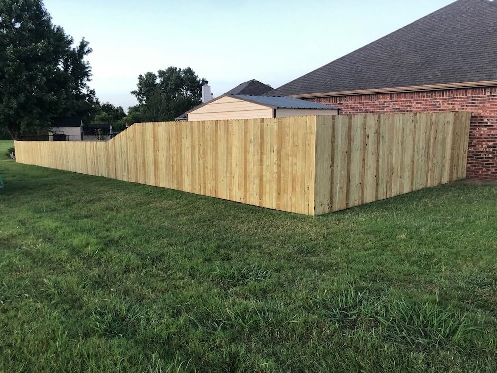 newly built fence
